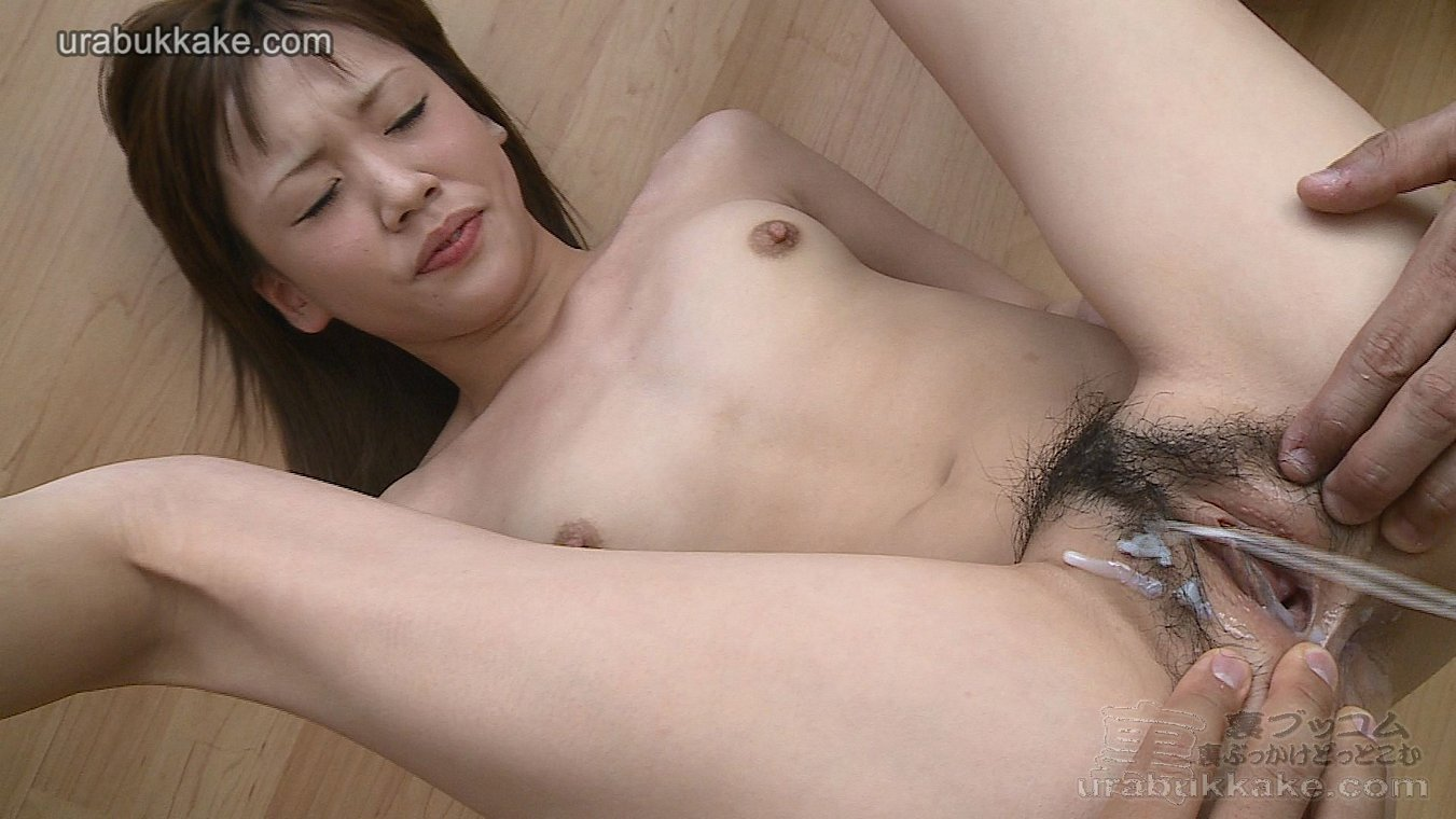 hairy asian pussy get cum filled